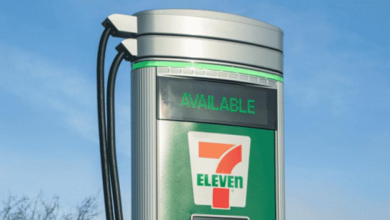 7-eleven EV charging station.