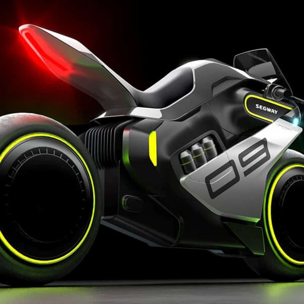 segway apex h2 electric motorcycle rear.
