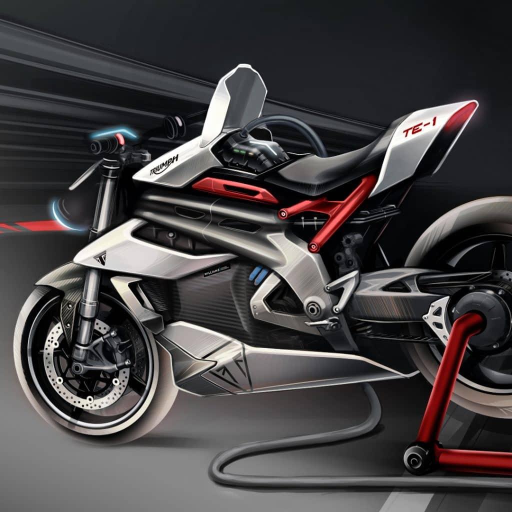 triumph te1 electric motorcycle concept.