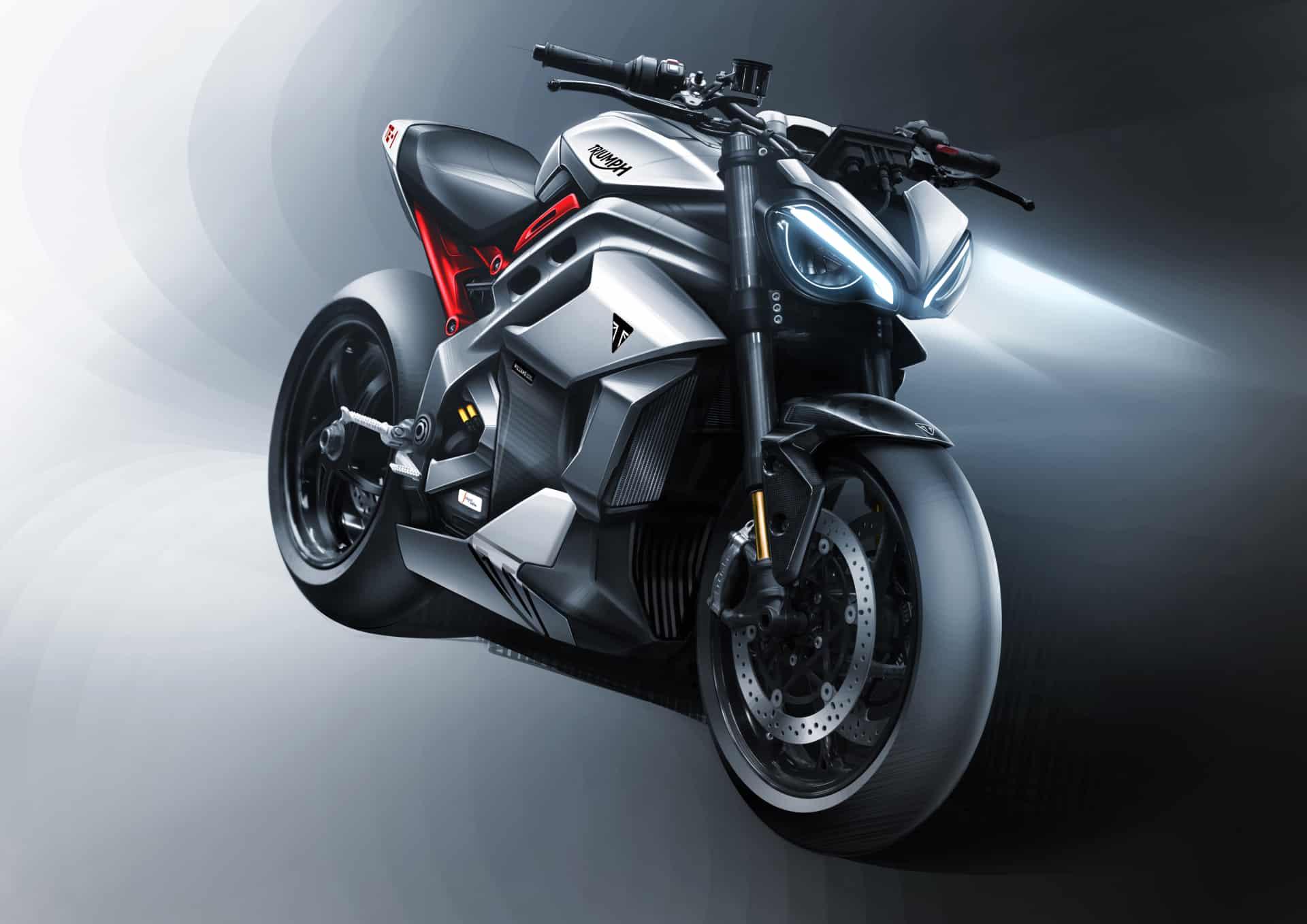 triumph te1 electric motorcycle concept art.
